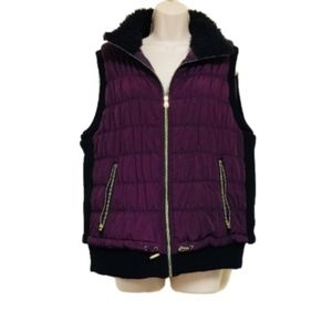 [Calvin Klein] Insulated Dark Purple Burgundy Vest